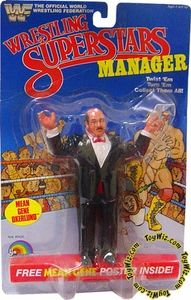 WWF Superstars manager Mean Gene Oklerlund figure