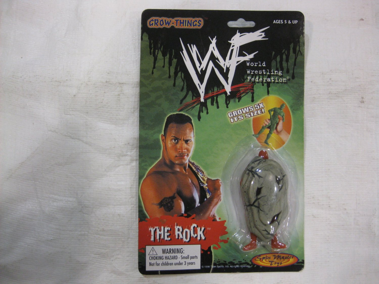WWF The Rock Grow Thing