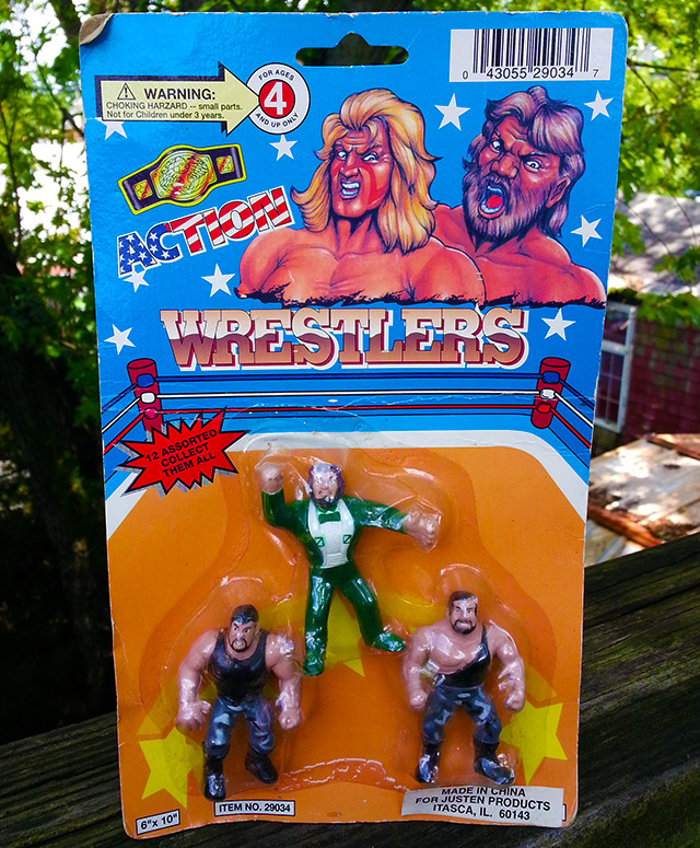 Action Wrestlers bootleg toys The Bushwhackers Ted DiBiase