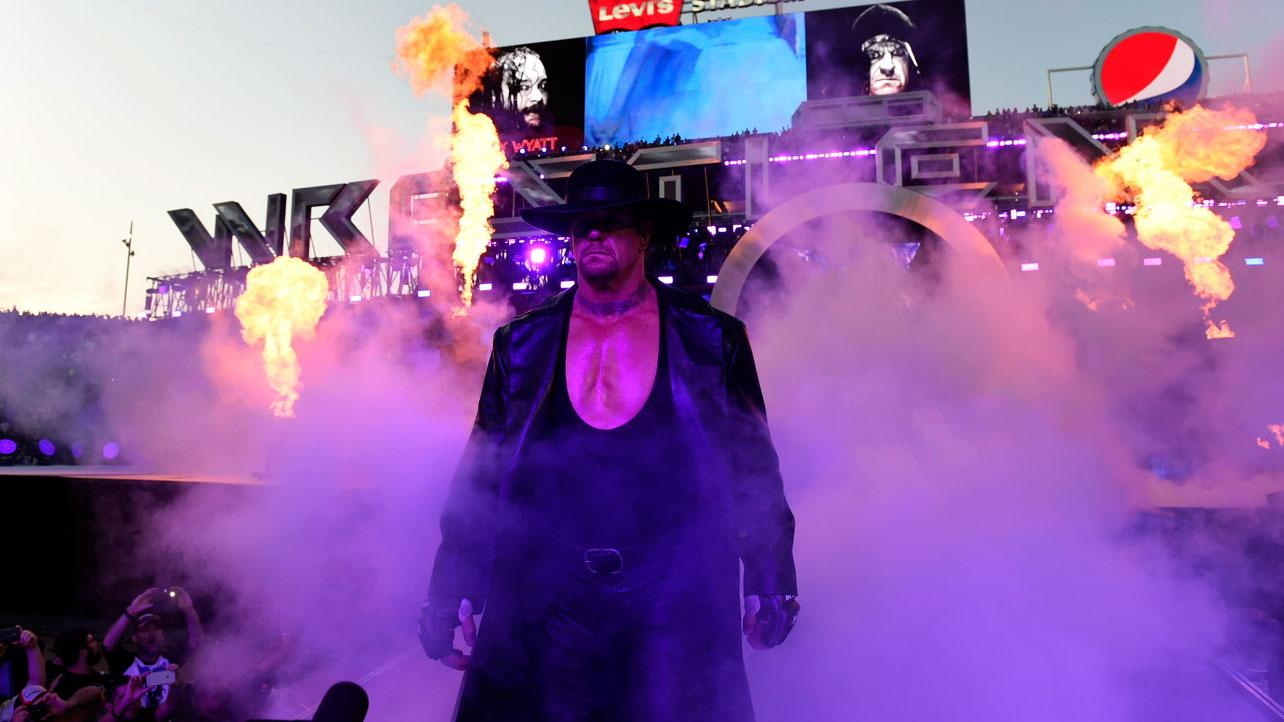 The Undertaker WrestleManai 31 entrance with smoke