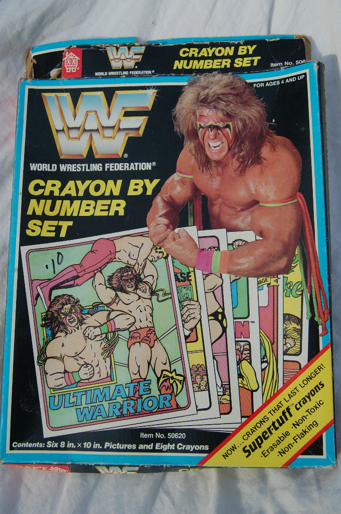 Someone Bought This WWF Crayon By Number Crayon And Paper Set