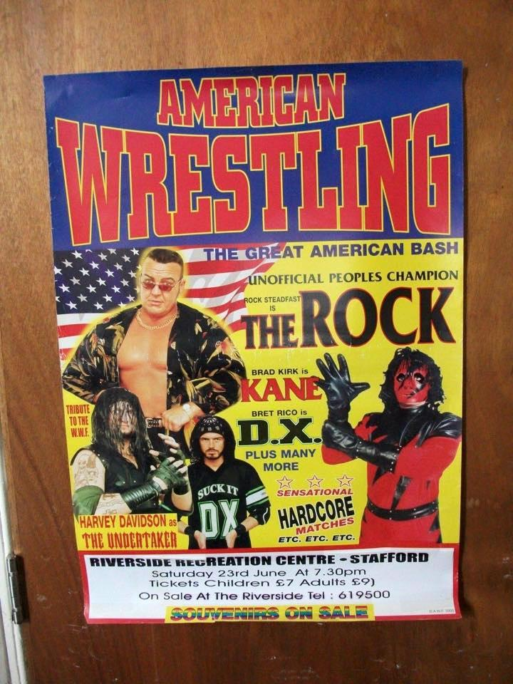 American Wrestling WWE knockoff poster