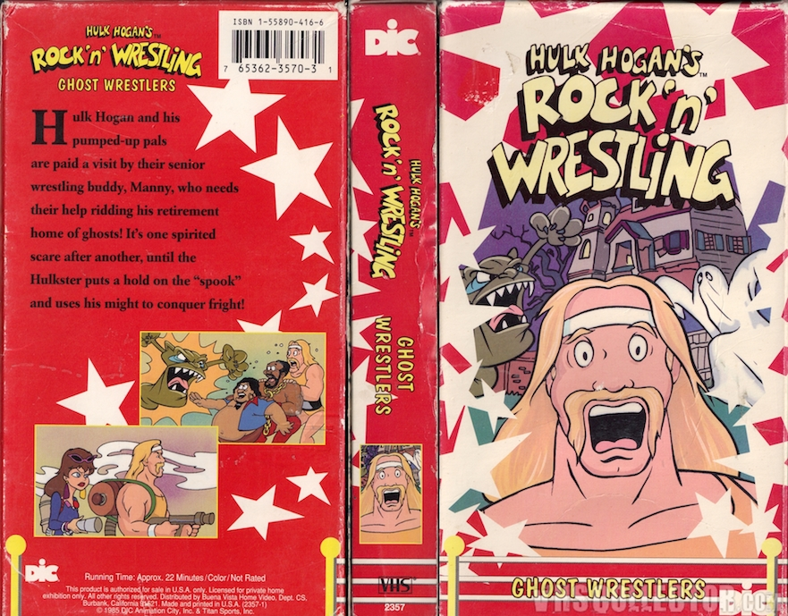 Hulk Hogan's Rock n Wrestling Ghost Wrestlers VHS video tape
