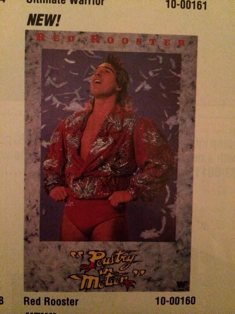 WWF Spring Summer 1990 Red Rooster poster