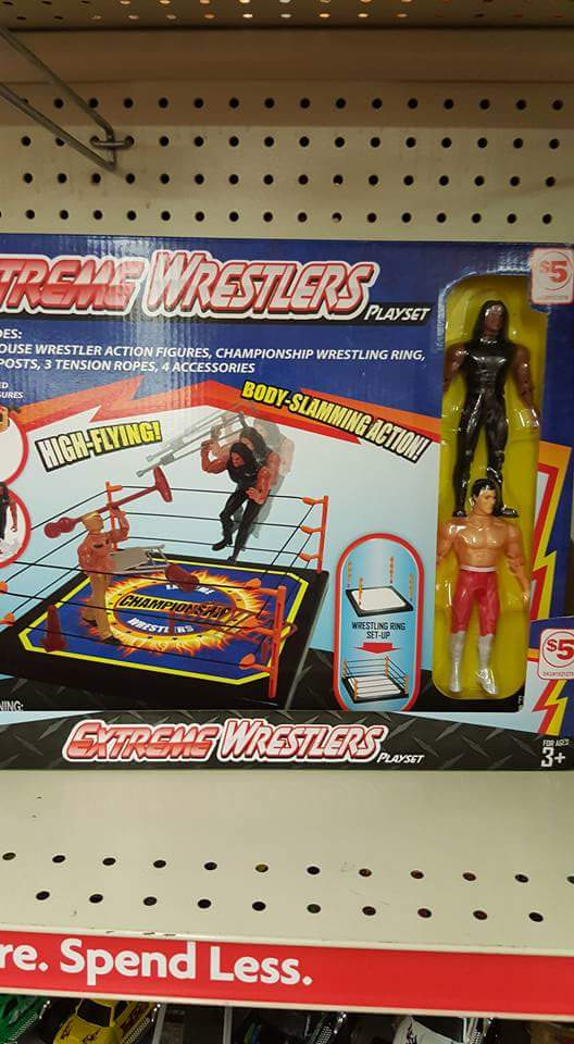 Extreme Wrestlers playset ring action figures fake Roman Reigns