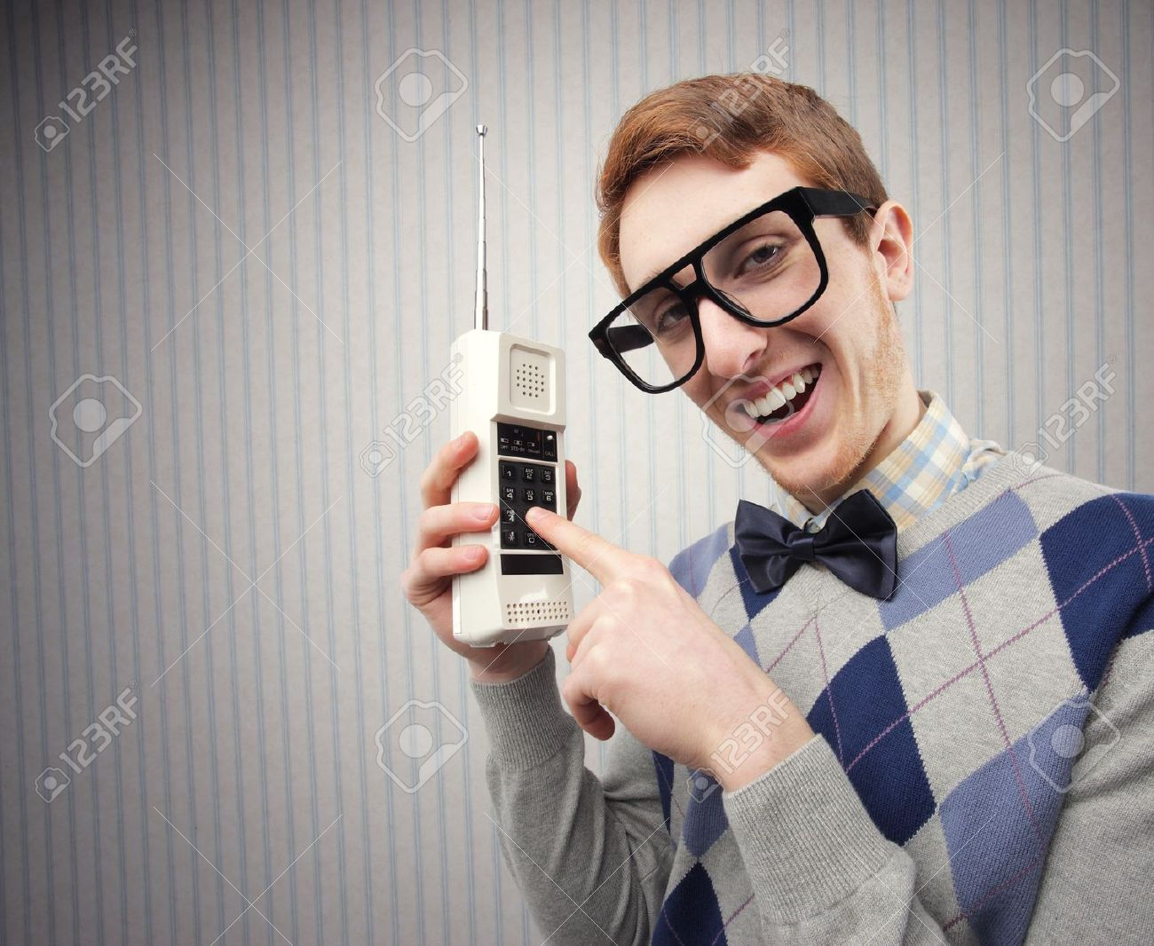 Nathaniel nerd with telephone phone