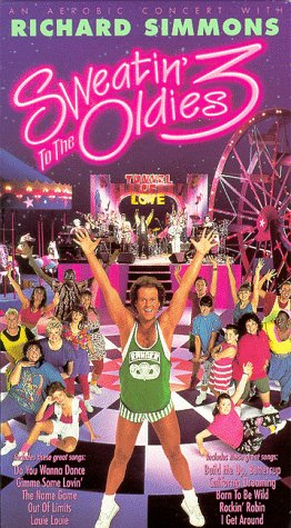 Richard Simmons Sweatin' To The Oldies 3 VHS video box