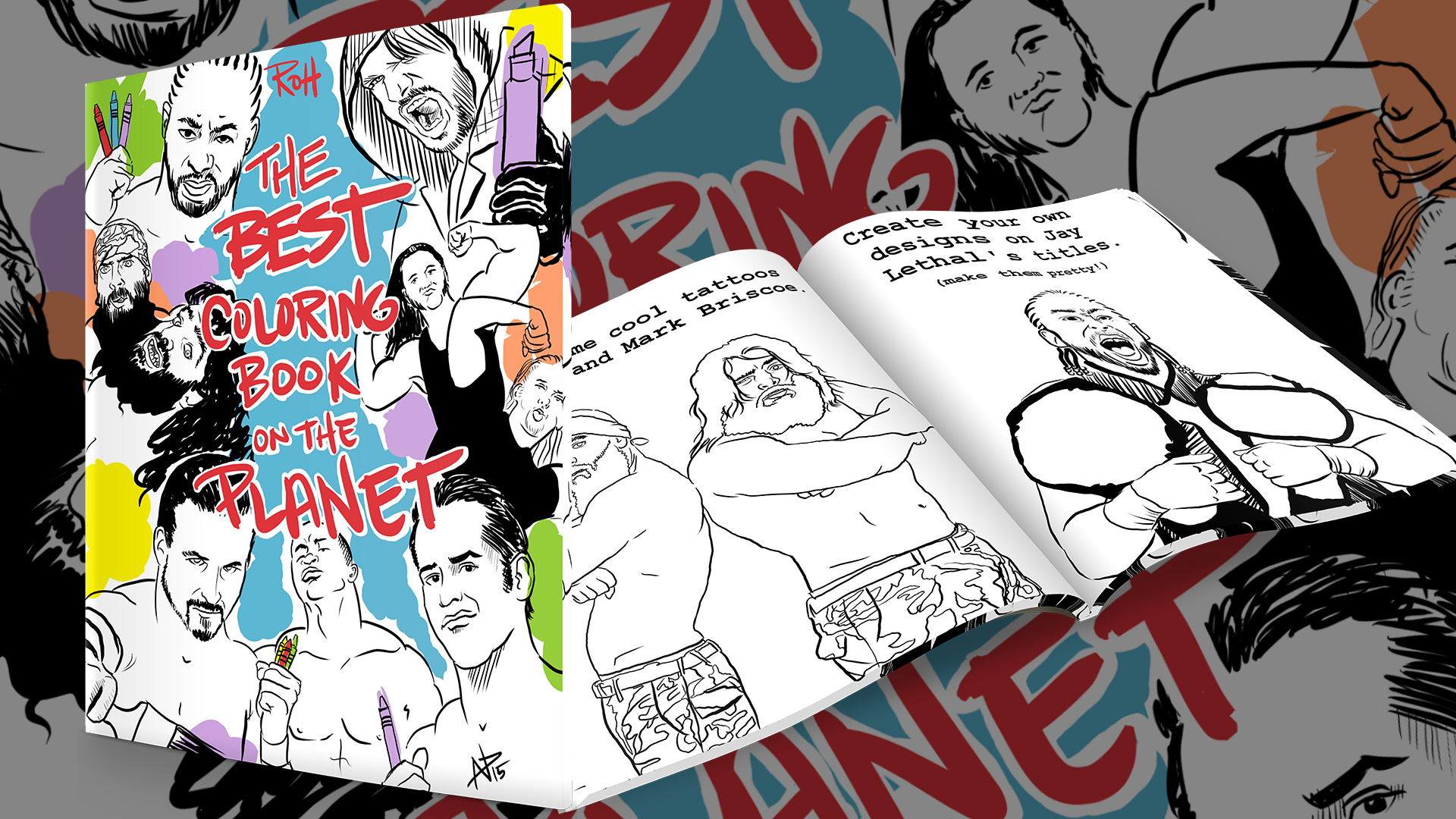 Ring Of Honor ROH coloring book