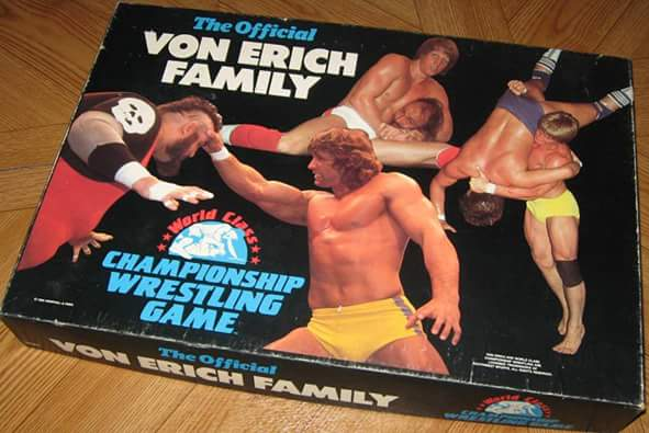 The Official Von Erich Family WOrld Class Championship Wrestling Game board game