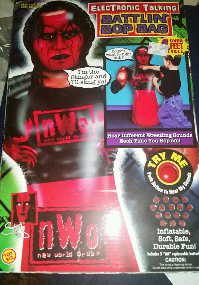 WCW NWO Sting Battlin' Bop Bag toy 1