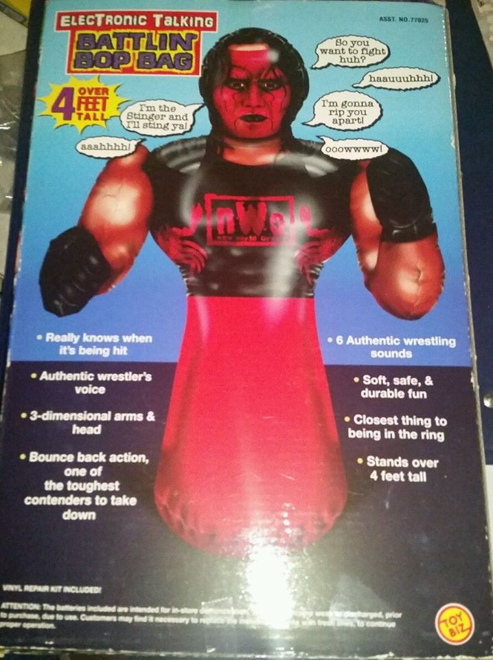 WCW NWO Sting Battlin' Bop Bag toy 2