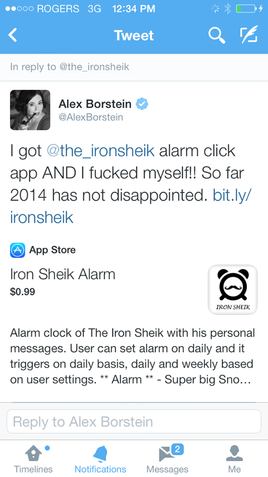 The Iron Sheik alarm clock app 2
