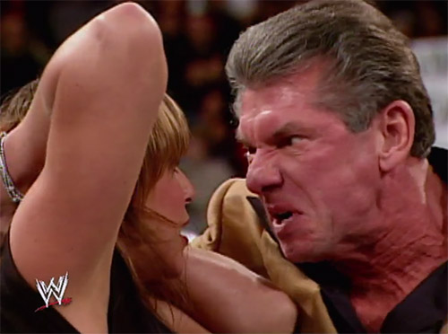 Vince Mcmahon Makes Bark Like Dog