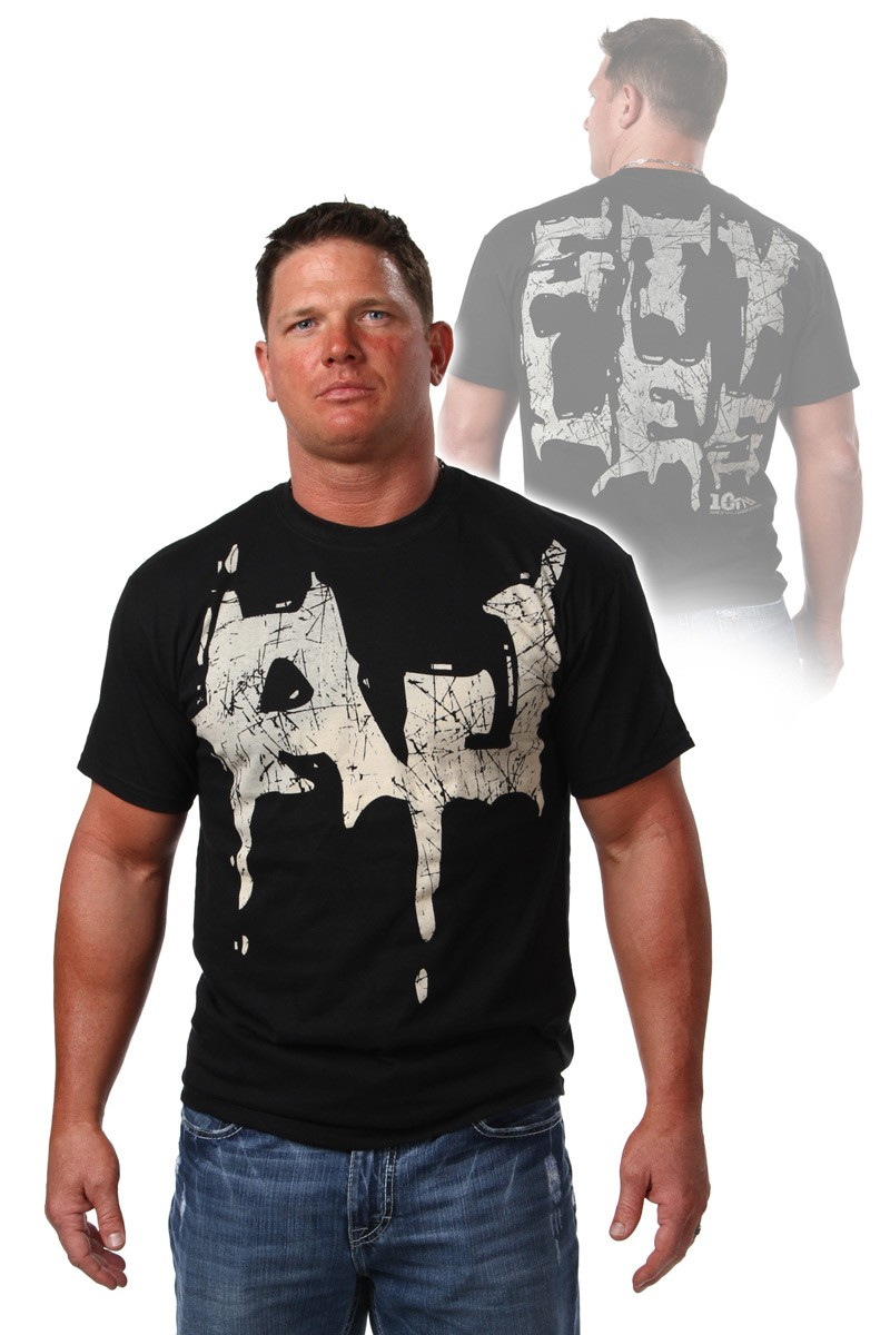 AJ Styles discharge t-shirt