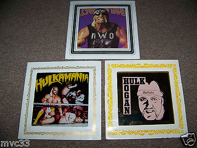 Hulk Hogan 3 pieces of carnival glass
