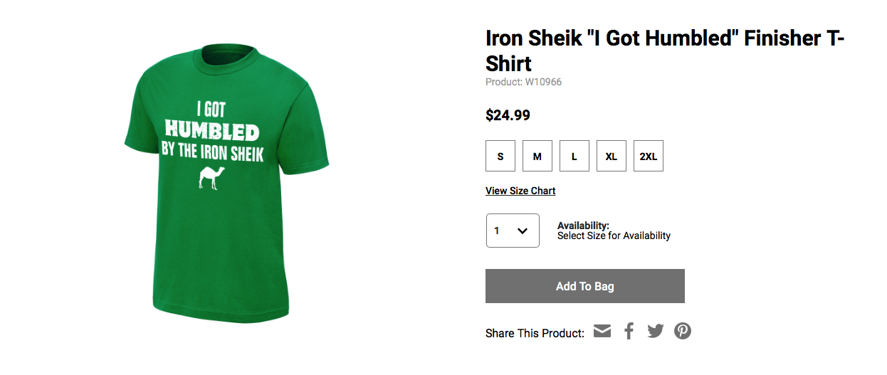 Iron Sheik humbled shirt