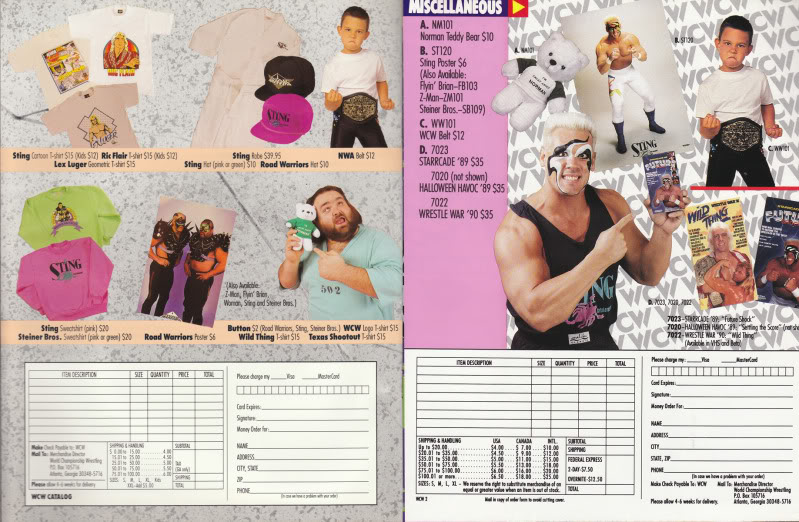 WCW Norman The Lunatic Teddy Bear catalog page