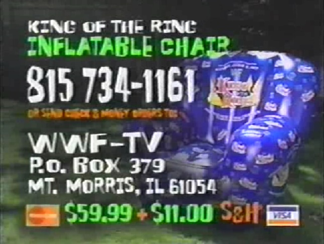 WWF King Of The Ring inflatable chair 2