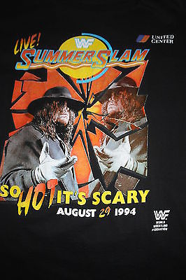 WWF Summer Slam 1994 '94 94 Fake Undertaker shirt 2