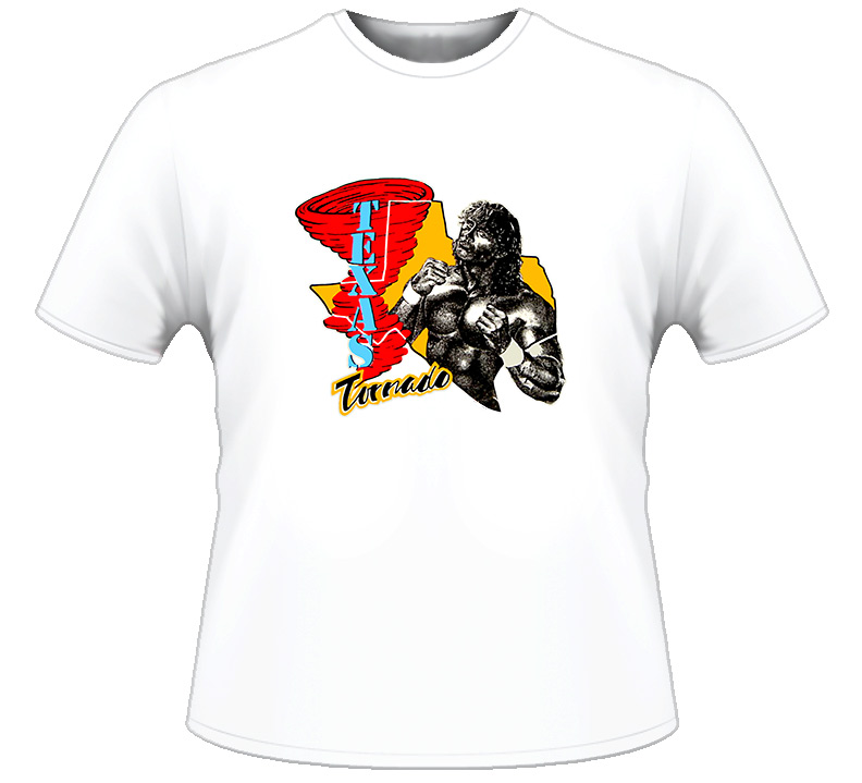 WWF Texas Torando red tornado shirt 1