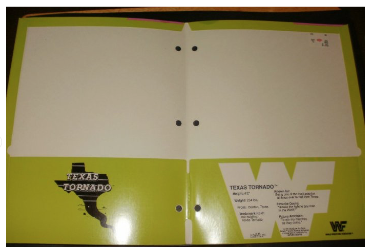 WWF Texas Tornado Kerry Von Erich school folder 2