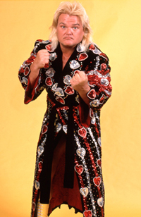 Greg Valentine wearing robe