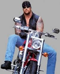 The Undertaker on motorycle biker