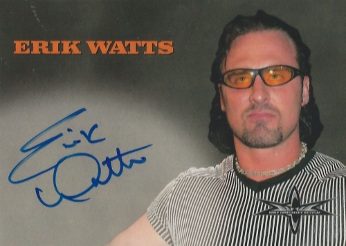 WCW Erik Watts signed autographed card