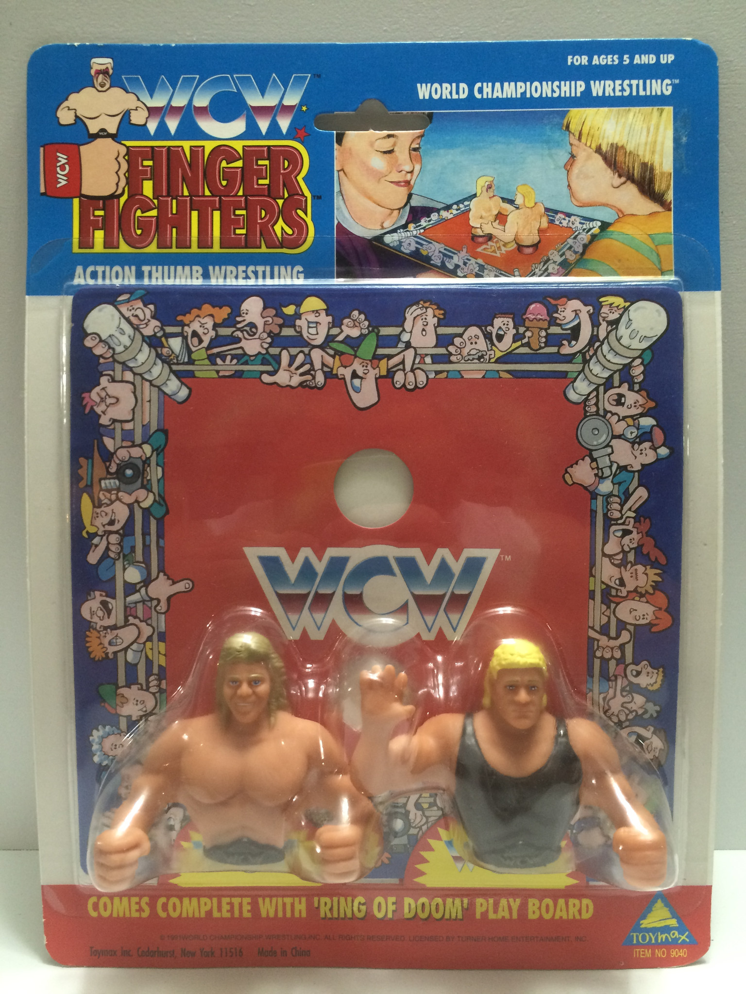 WCW Finger Fighers thumb wrestlers toy 1
