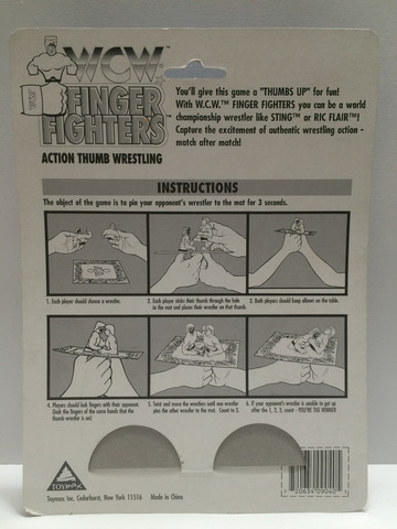 WCW Finger Fighers thumb wrestlers toy 2