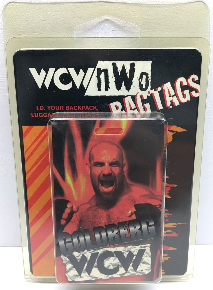WCW Goldberg bagtag bag tag