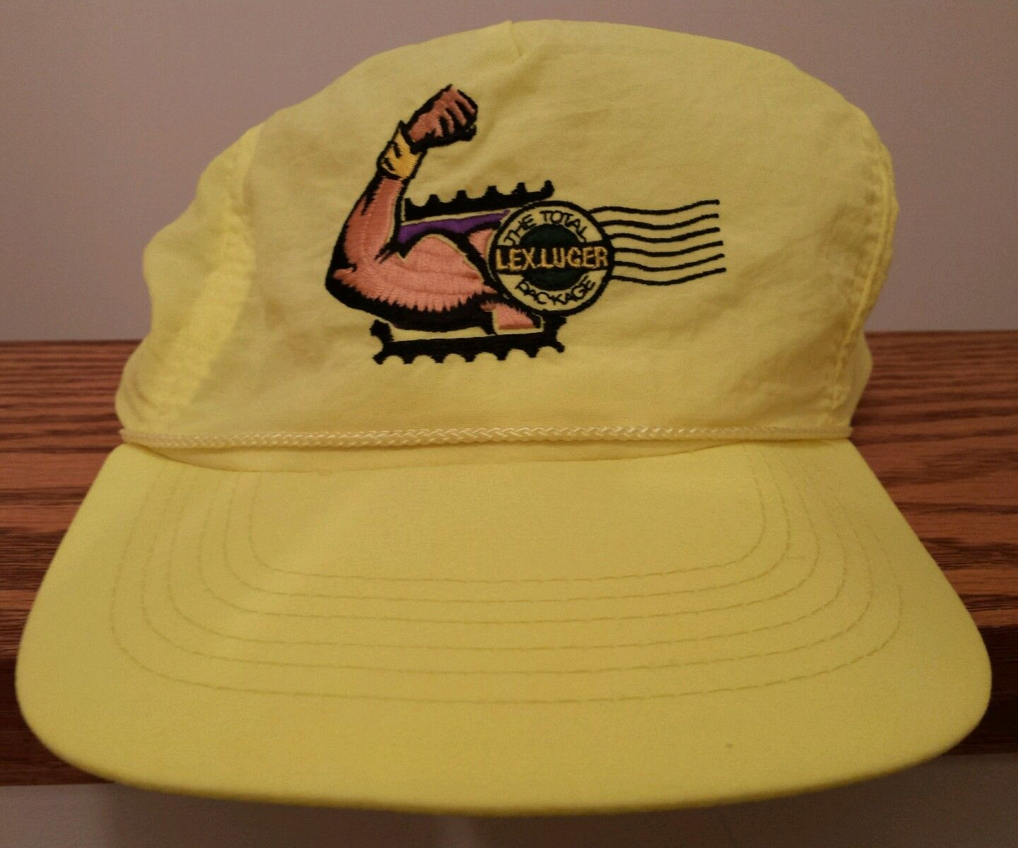 WCW Lex Luger Total Package stamp hat cap
