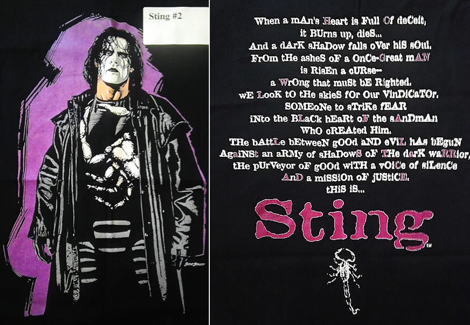 WCW Sting Starrcade poem shirt 1