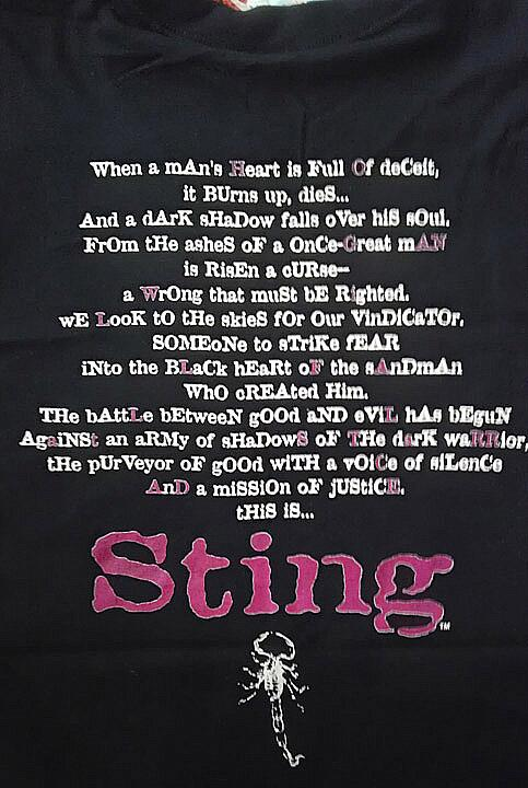 WCW Sting Starrcade poem shirt 2