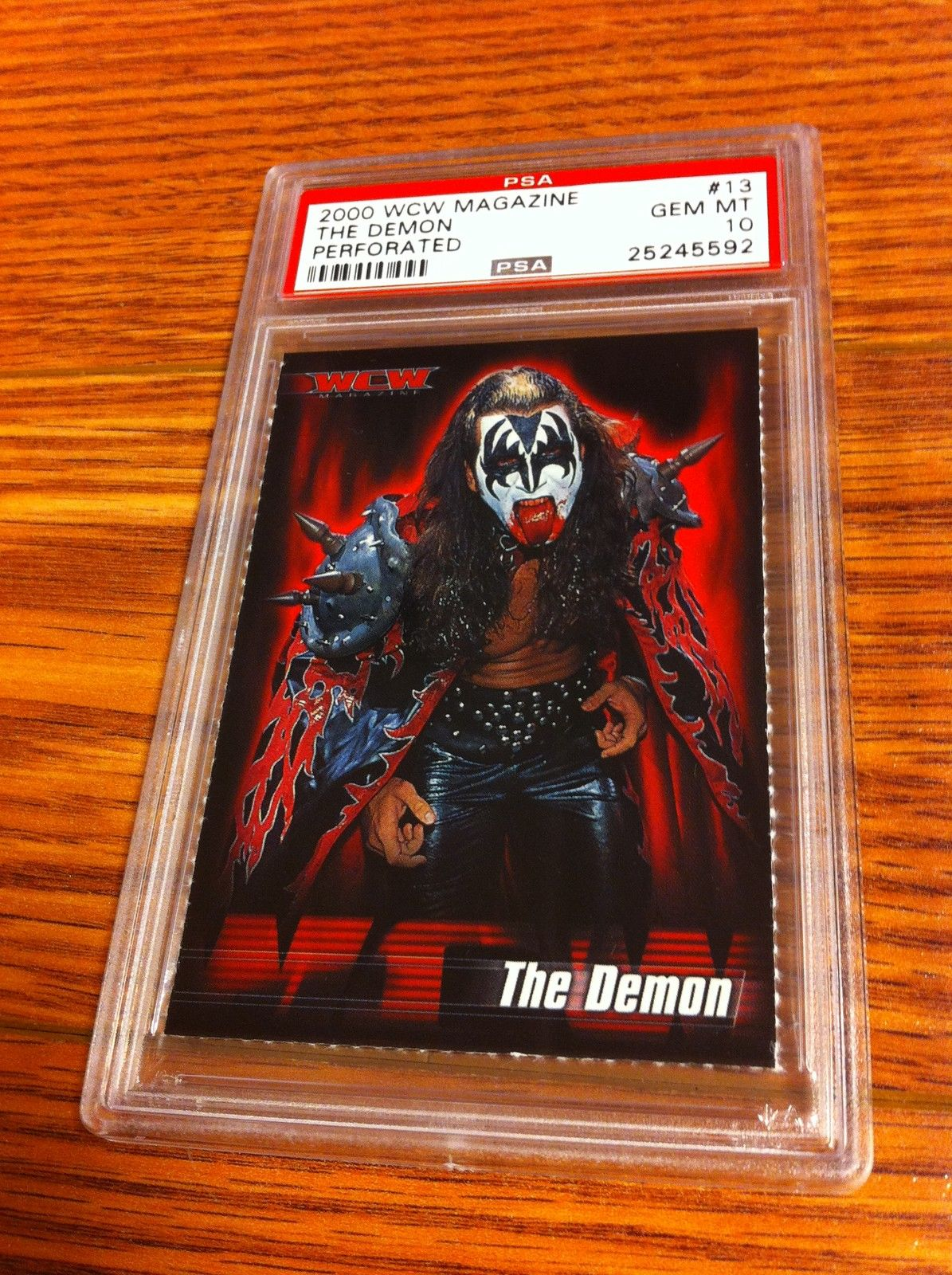 WCW The Demon KISS WCW Magazine trading card