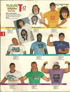 WWF Captain Lou Albano caricature shirt catalog page