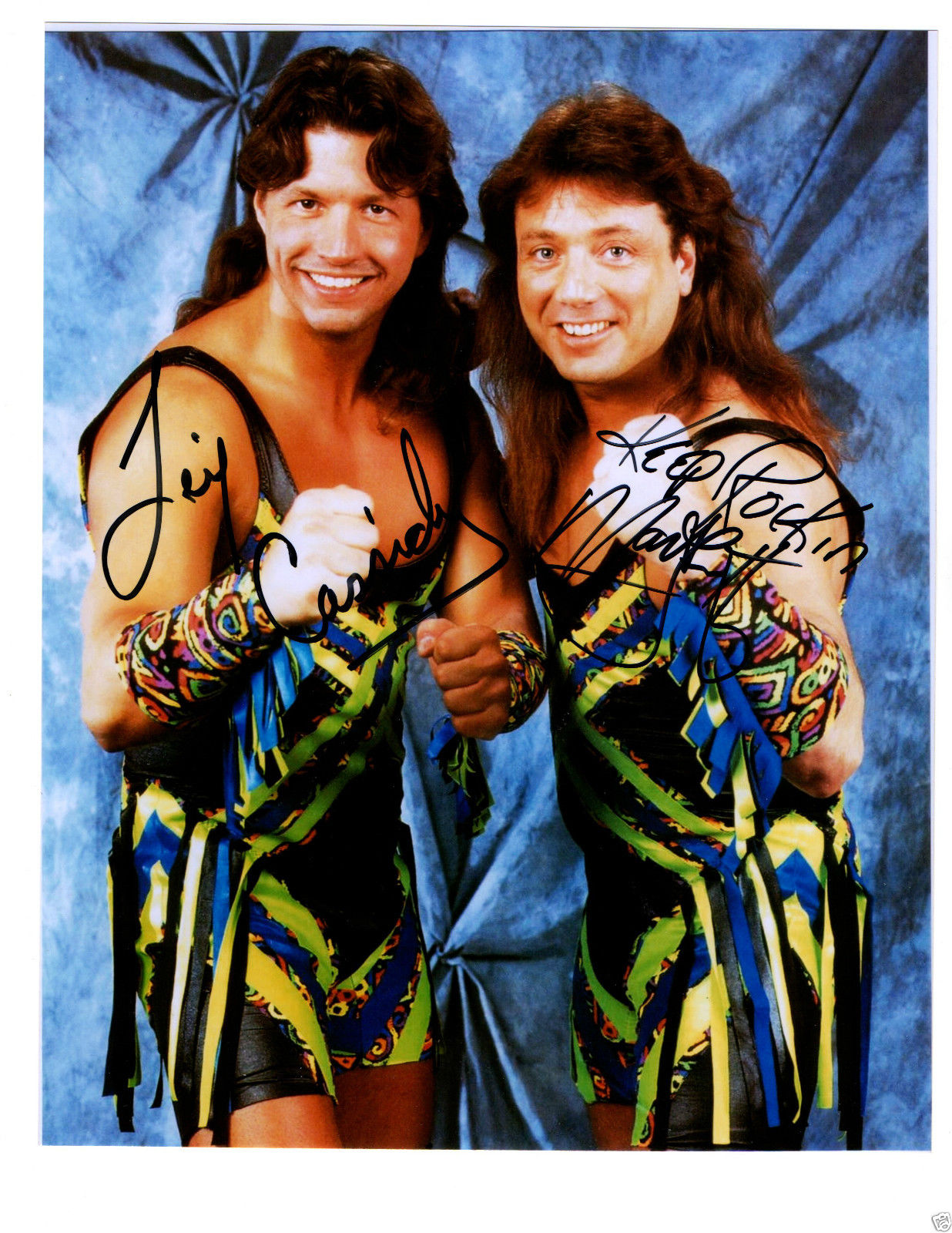 WWF New Rockers signed photo