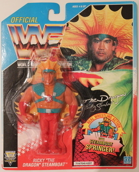 WWF RIcky The Dragon Steamboat Hasbro figure