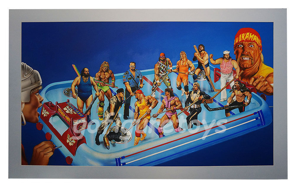 WWF Superstars Shoot-Out Hockey game art 1