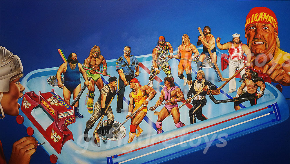 WWF Superstars Shoot-Out Hockey game art 2