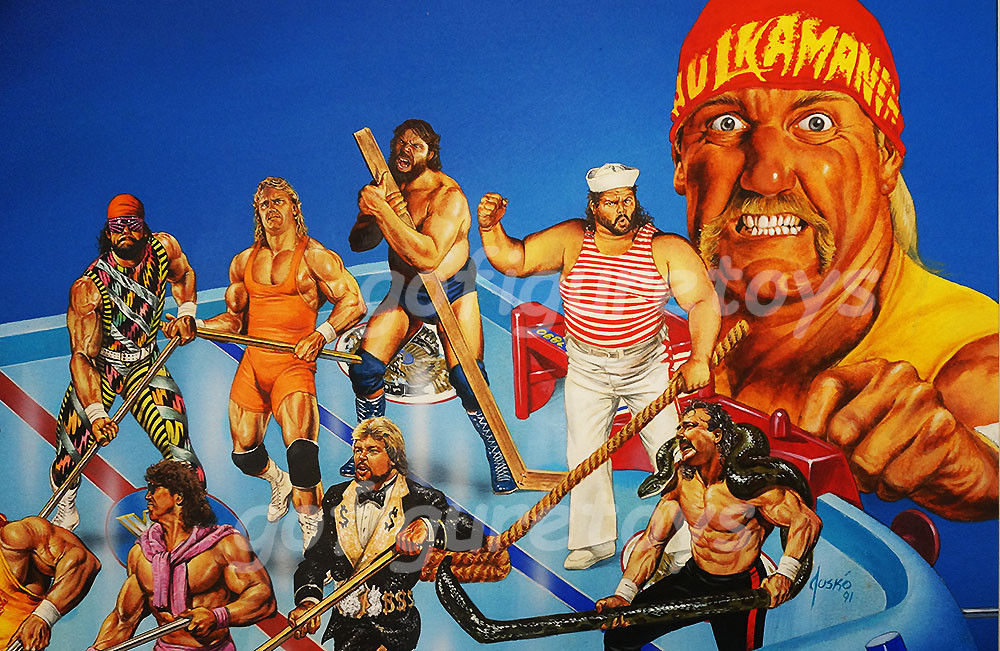 WWF Superstars Shoot-Out Hockey game art 3