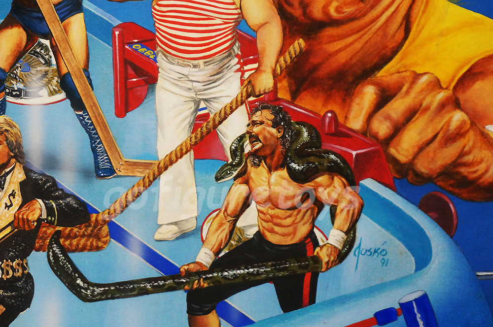 WWF Superstars Shoot-Out Hockey game art 4