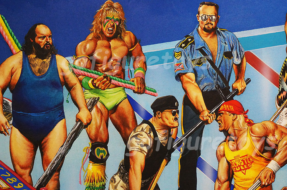 WWF Superstars Shoot-Out Hockey game art 5