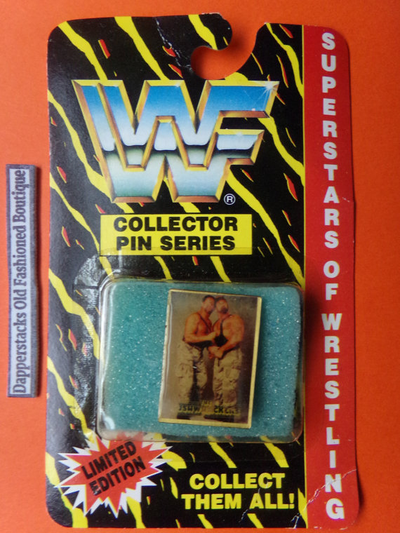 WWF The Bushwhackers pin 1
