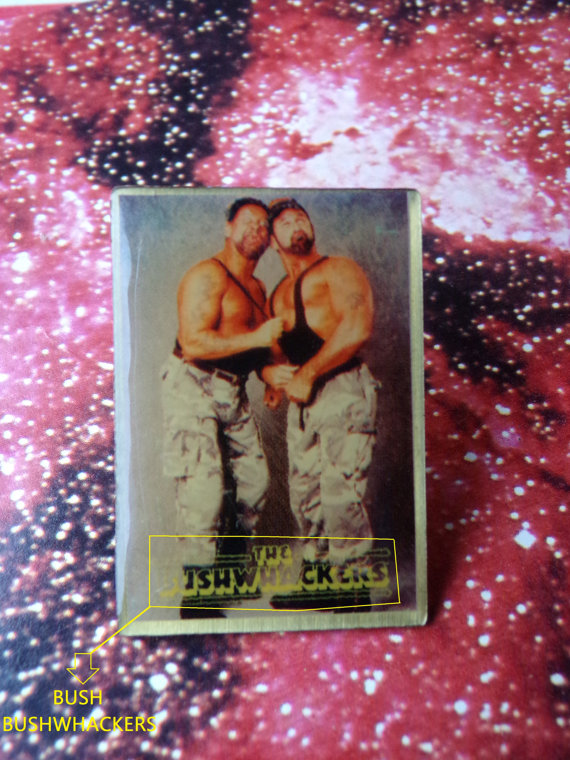 WWF The Bushwhackers pin 2