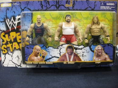 WWF figure three pack Stone Cold Steve Austin Dr. Death Steve Williams Edge