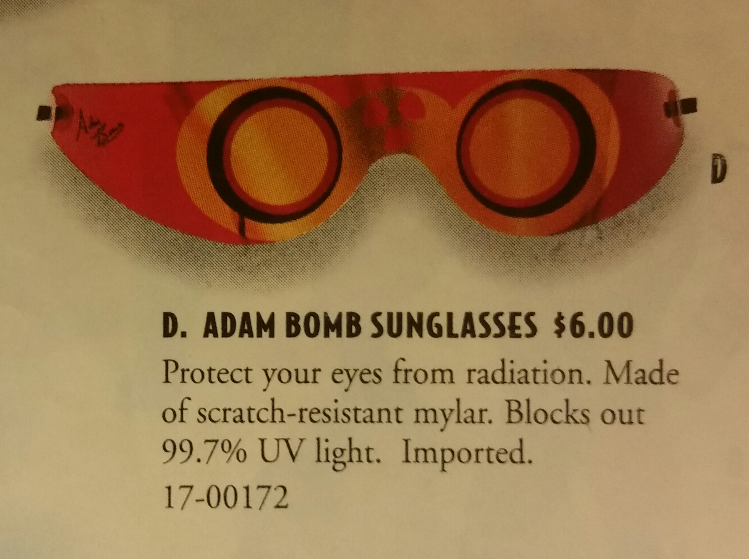 Adam Bomb sunglasses 1