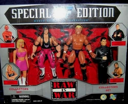 WWF figure collection Sunny Bret Hart Psycho Sid Vince McMahon 2