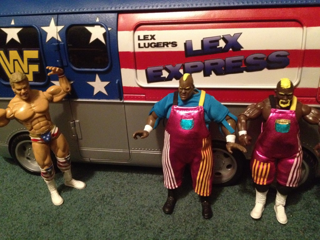 Lex Luger Lex Express bus with Men On A Mission figures custom