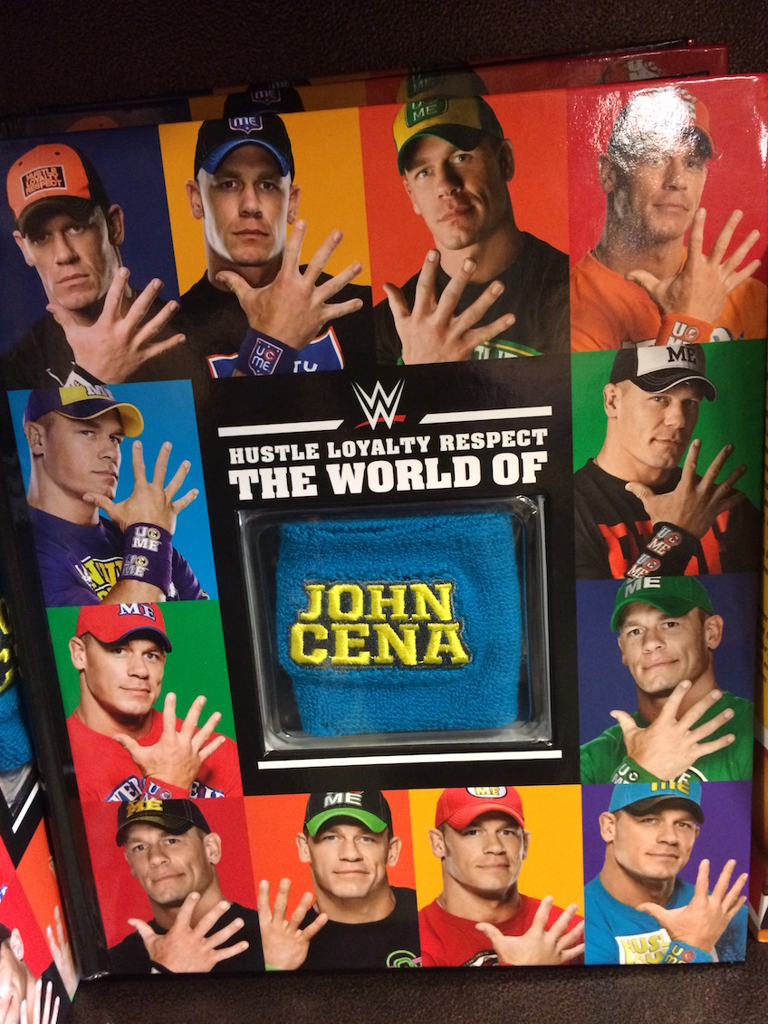WWE John Cena book with sweatbands